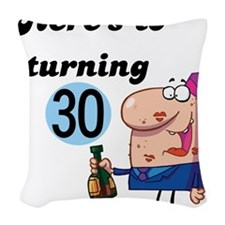 CHEERSTO30.png Woven Throw Pillow