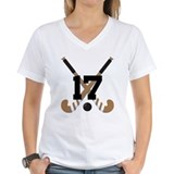 Field hockey 17 Womens V-Neck T-shirts