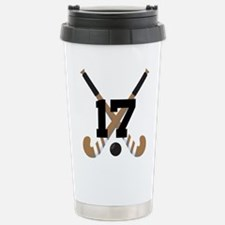 Field Hockey Number 17 Stainless Steel Travel Mug