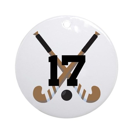 Field Hockey Number 17 Ornament (Round)