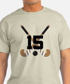 Field Hockey Number 15 T-Shirt
