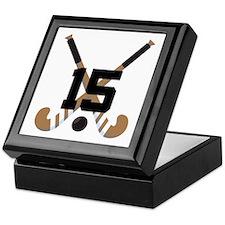 Field Hockey Number 15 Keepsake Box