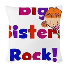 bigsistersrock.png Woven Throw Pillow