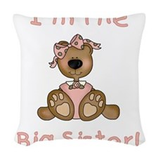 BEARBIGSISTER.png Woven Throw Pillow