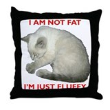 Fat cat Throw Pillows