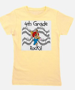 4thgraderocks.png Girl's Tee