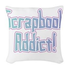 SCRAPBOOKADDICT.png Woven Throw Pillow