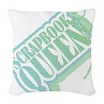 SCRAPBOOKQUEENTAG.png Woven Throw Pillow