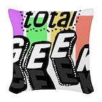 totalgeekblocks.png Woven Throw Pillow