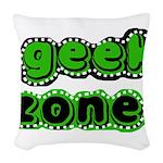 greengeekzone.png Woven Throw Pillow