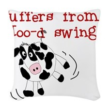 MOODSWINGSTEE.png Woven Throw Pillow
