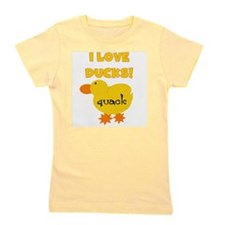 YELLOWLOVEDUCKS.png Girl's Tee