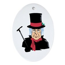 Scrooge Oval Ornament