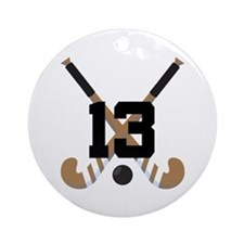 Field Hockey Number 13 Ornament (Round)