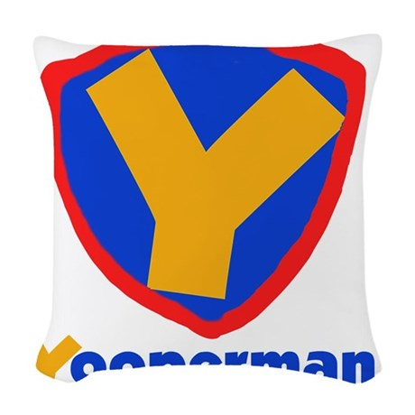 YOOPERMANTEE.png Woven Throw Pillow