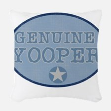 bluegenuineyoopers.png Woven Throw Pillow
