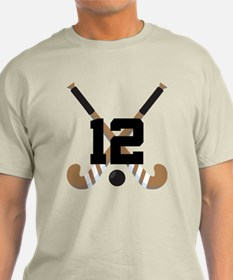 Field Hockey Number 12 T-Shirt