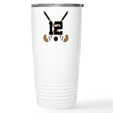 Field Hockey Number 12 Travel Mug