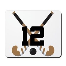Field Hockey Number 12 Mousepad