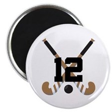 Field Hockey Number 12 Magnet