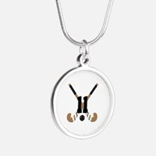 Field Hockey Number 11 Silver Round Necklace