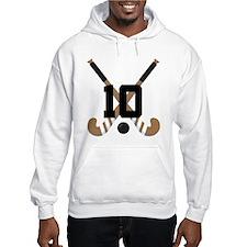 Field Hockey Number 10 Hoodie