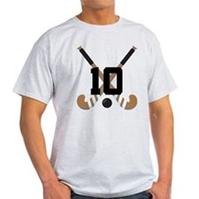 Field Hockey Number 10 T-Shirt