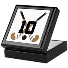 Field Hockey Number 10 Keepsake Box