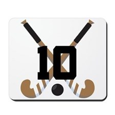 Field Hockey Number 10 Mousepad