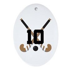 Field Hockey Number 10 Ornament (Oval)