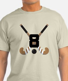 Field Hockey Number 8 T-Shirt