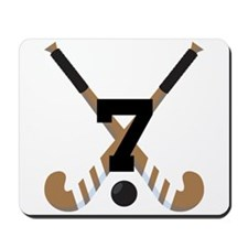 Field Hockey Number 7 Mousepad
