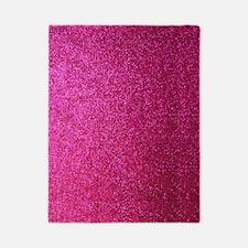 Hot pink faux glitter Twin Duvet