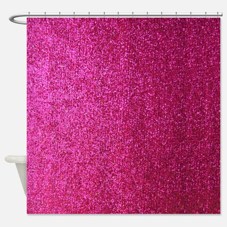 hot pink shower curtains hot pink fabric shower curtain