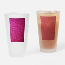 Hot pink faux glitter Drinking Glass