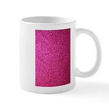Hot pink faux glitter Small Mug