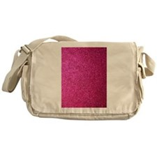 Hot pink faux glitter Messenger Bag