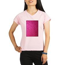 Hot pink faux glitter Peformance Dry T-Shirt