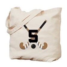 Field Hockey Number 5 Tote Bag