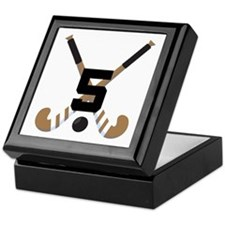 Field Hockey Number 5 Keepsake Box