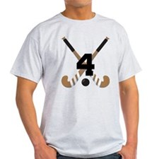 Field Hockey Number 4 T-Shirt