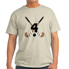 Field Hockey Number 4 T-Shirt