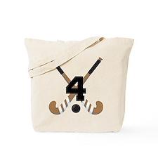 Field Hockey Number 4 Tote Bag