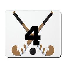 Field Hockey Number 4 Mousepad