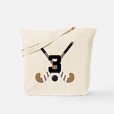 Field Hockey Number 3 Tote Bag