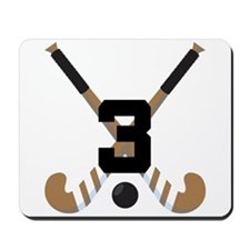 Field Hockey Number 3 Mousepad