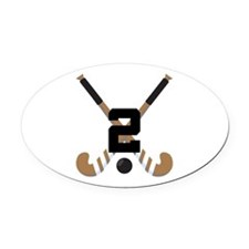 Field Hockey Number 2 Oval Car Magnet