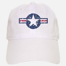 Faded Air Force Logo Baseball Baseball Baseball Cap