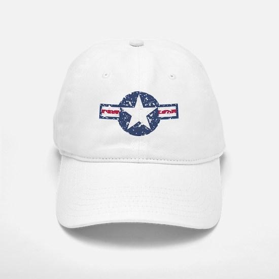 Faded Air Force Logo Baseball Baseball Baseball Cap