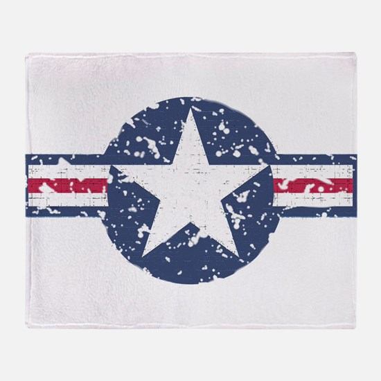 Faded Air Force Logo Throw Blanket